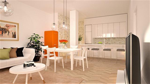 Kuchyně, oranžová lednice.jpg