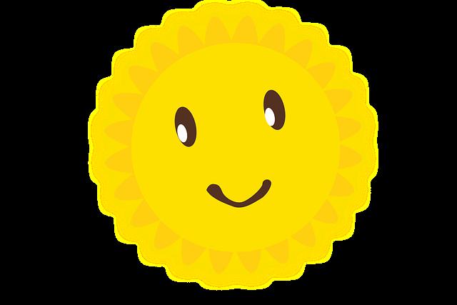 kresba žlutého slunce